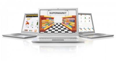 Laptops met online supermarkten erop
