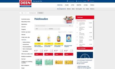 Screenshot Deen website online boodschappen doen