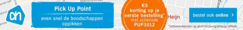 Actiecode van AH invoeren voor 5 euro korting