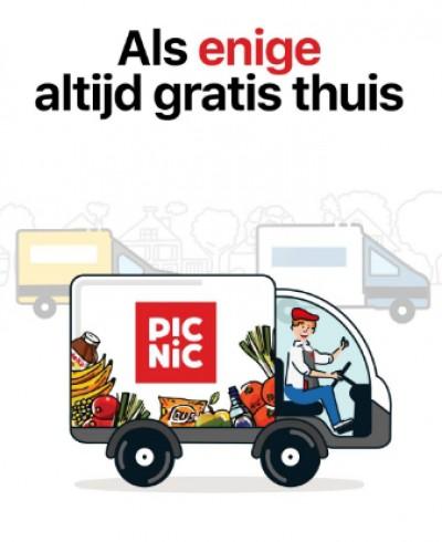 Gratis bezorging bij Picnic vanaf 25 euro aan boodschappen