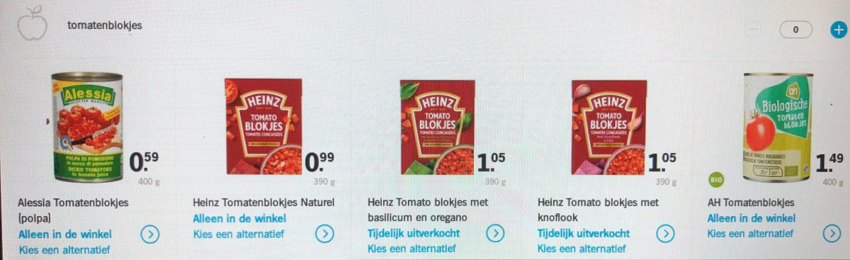 Eigen afbeelding van supermarkt of boodschappen bij deze review
